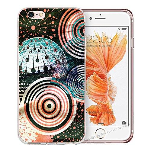 Blitz® BANANA motifs housse de protection transparent TPE caricature bande iPhone Stars & Stripes M16 iPhone 6sPLUS Cosmos M6