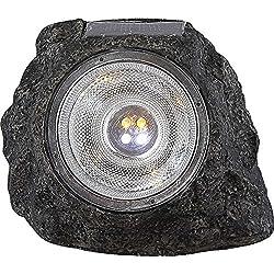 Dekostein mit LED Solarleuchte Solarlampe Solar Solarlicht Gartenleuchte Gartendeko Gartendekoration Stein (Außenbeleuchtung, Akku, Gartenlampe, Gartenlicht, Gartenbeleuchtung, Höhe 10,5 cm)