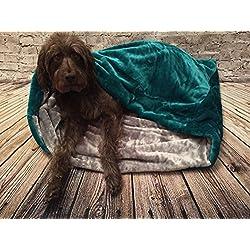 Snuggle saco/saco de dormir/Mascotas Cama para perros y gatos por Pet de Lola Verde Azulado Azul y Gris