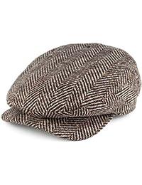 Failsworth Hats Donegal Windsor Extended Bill Flat Cap - Brown