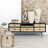 AXIDECOR - Muebles para Salón - Mueble TV QUEBEC 5 Cajones 1 Hueco