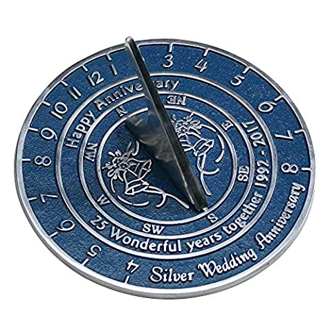 Handmade Silver Wedding & Anniversary Sundial Gift By The Metal Foundry Ltd.