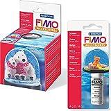 Staedtler FIMO 2er Set Große Schneekugel + Bastelschnee (4g)