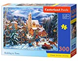 Castorland B-030194 - Puzzle Sledding in Town, 300 Teile