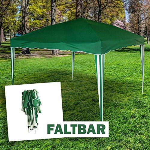 MACOShopde by MACO Möbel Pavillon Faltbar - Faltpavillon 3x3m grün mit Tragetasche und stabilem...