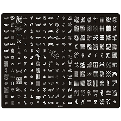 Perfect Summer 25.5X31.4 cm Nail Art Tampon Stamping Plaques Pochoir en Métal Image Designs Mixtes avec Stamp & Scraper Rouge pour Ongles Manucures #NK02