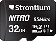 Strontium Nitro 32GB Micro SDHC Memory Card 85MB/s UHS-I U1 Class 10 High Speed for Smartphones Tablets Drones Action Cams (S