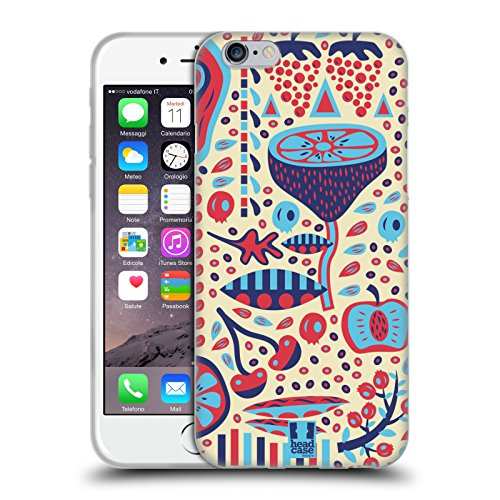 Head Case Designs Occhiali Pattern Hipster Cover Morbida In Gel Per Apple iPhone 5 / 5s / SE Frutta