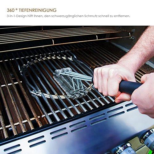 Amzdeal 3 In 1 Grillbrste Bbq Reinigungswerkzeuge Zubehr 360 Reinigung 18extra Langer Griff Best Barbecue Reiniger Werkzeuge Zubehr