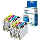 ECSC Compatible Encre Cartouche Remplacement pour Epson XP-455 XP-452 XP-445 XP-442 XP-435 XP-432 XP-355 XP-352 XP-345 XP-342 XP-335 XP-332 XP-257 XP-255 XP-247 XP-245 XP-235 T2996 (B/C/M/Y, 8-Pack)
