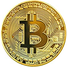 TS Trade® Dorado/ Plata / Cobre Plateado Bitcoin Moneda Collectible Gift BTC Coin Art Colección Físico