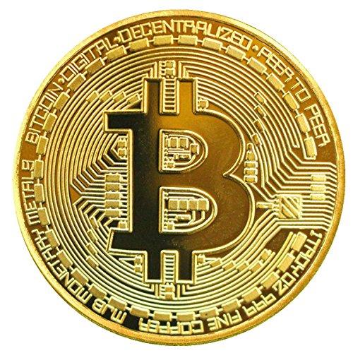 TS Trade® Dorado/ Plata / Cobre Plateado Bitcoin Moneda Collectible Gift BTC Coin Art Colección Físico