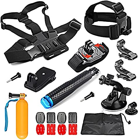 SHOOT 8 in 1 Accessories Kit for Gopro Hero 6/5/4/3+/3/2/1