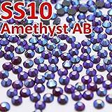 ASTONISH SS10, 2.7-2.9mm 1440pcs / Bolsa amatista Cristal AB DMC Hotfix de FlatBack de pedrería, prendas de vestir DIY Hot Fix cristales gliters piedras