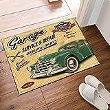 fdswdfg221 Vintage Vecchie Auto Tappeti Antiscivolo zerbini Pavimento Pavimenti Esterni Interni Porta d'ingresso
