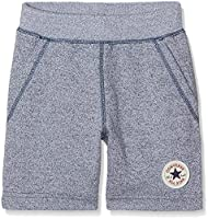 Converse Boy's Core French Terry Ctp Shorts, Multicoloured (Navy/White Marl), 10-11 Years (Manufacturer Size:10-12Years)