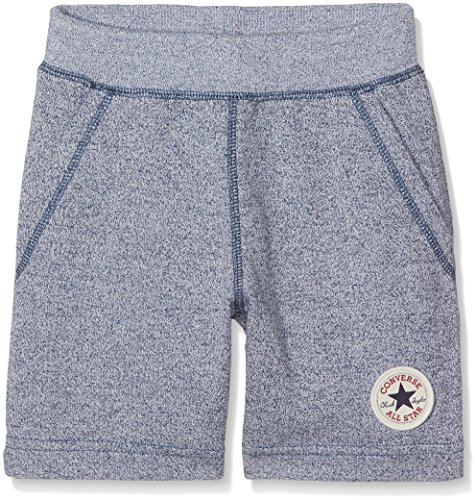 Converse Jungen Shorts Core French Terry Ctp, Mehrfarbig (Navy/White Marl U1H), 12-13 Jahre