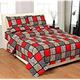 ZATCHBELL Cotton Printed 1 Double Bedsheet with 2 Pillow Covers