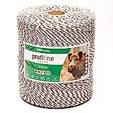 Voss.farming Filo per recinzioni elettriche, lunghezza 1000 m, con fili in acciaio 3 x 0,20 e fili in rame 3 x 0,25, colore bianco/nero