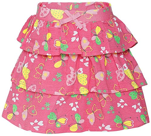 FS Mini Klub Girls' Regular Fit Skirt (88TGBSK0635 DK PINK 1_2 - 3 Years, Pink, 2 - 3 Years)  available at amazon for Rs.249