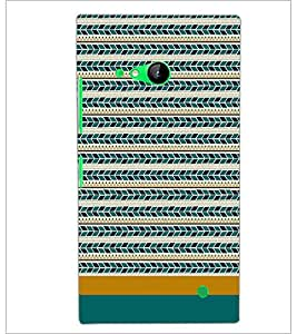 PrintDhaba Tribal pattern D-1871 Back Case Cover for NOKIA LUMIA 730 (Multi-Coloured)