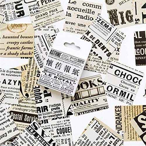 JIFNCR Mini Papier Aufkleber Dekoration Geschenk DIY Feuer Farbe Muster Dekorative Schreibwaren Aufkleber Notebook Scrapbooking Tagebuch Album Label Ornament -