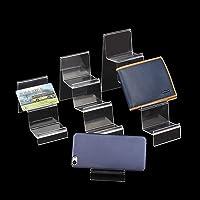 Lot de 2 présentoirs de portefeuilles, en plastique acrylique transparent, pour comptoir de vente au détail, pour…