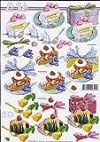 3D Bogen Kuchen Torte Format A4 basteln Scrapbook Stanzbogen Deko