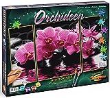 Schipper 609260603 Malen nach Zahlen Orchideen (Triptychon), 50 x 80 cm