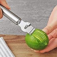 Citrus Lemon Zester Peeler Râpe en Acier Inoxydable/pour Gin Cocktails/Citron Vert Oranges/Ergonomique Outil De Cuisine