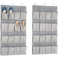 mDesign sac de rangement suspendu (lot de 2) – étagère suspendue en tissu pratique – rangement suspendu idéale pour les…