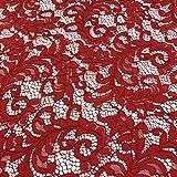 Rot mit Spitze Stoff für Bridal, Kleid, Hochzeit, Stoff