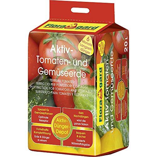 Floragard Aktiv Tomaten- und Gemüseerde 4x20l
