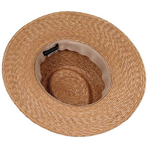 Chapeau Paille Dented Crown Seeberger chapeau de plage chapeau de paille Beige