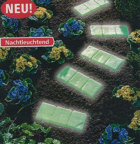 4er Set Gehwegplatten selbstleuchtend | Gartenplatten Bodenplatten | Trittplatte