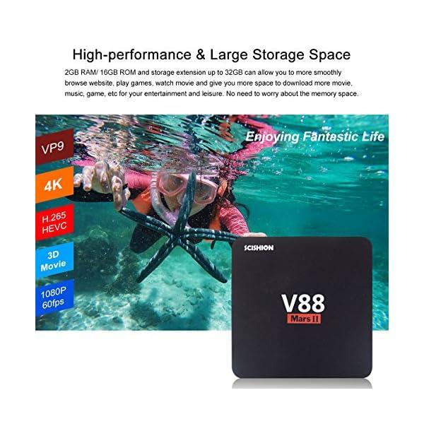 V88 MarsⅡ Android 6 0 TV BOX, 2GB RAM 16GB ROM Quad Core Rockchip RK3229  smart tv box 2 4G Wifi HDMI 4K H 265