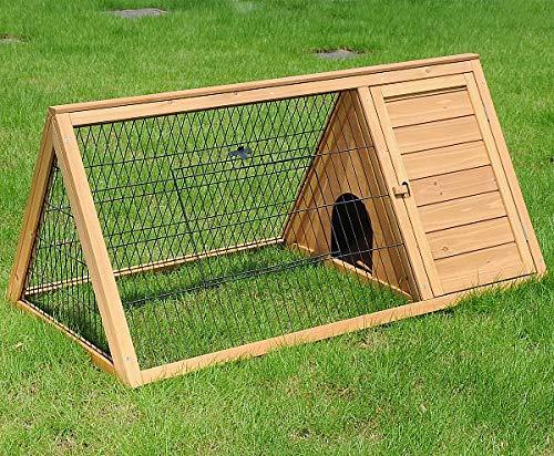 Eugad 0039ht gabbia per conigli criceto conigliera da esterno giardino casa per piccoli animali in legno di abete