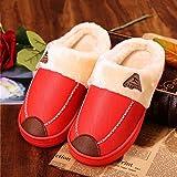Otoño e invierno de los pares zapatillas de algodón resistente al grueso Home Base Mantenga zapatillas de lana caliente ( Tamaño : EU39-40 )