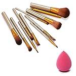 NAKEDPLUS Makeup Brush Set of 12 with Storage box and sponge puff