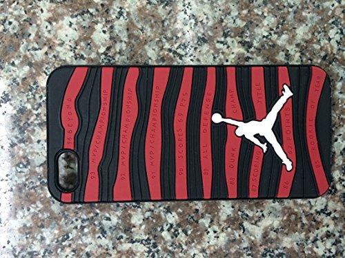 Schutzhülle für Apple iPhone 5/5S, 6 und 6Plus, Design: Schuhsohle von Air Jordan, Rot, Schwarz, APPLE IPHONE 6+ (Real Schuhe Jordan)