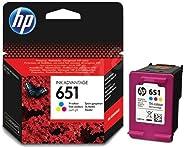 HP 651 Ink Advantage Cartridge, Tri-color - C2P11AE