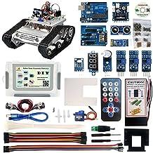 KOOKYE Robot Car Piezas Kit Tanque Platform Componentes Electrónicos con CD Tutorial para Arduino DIY(Chasis del tanque no incluido)(Robot Car Parts Kit)