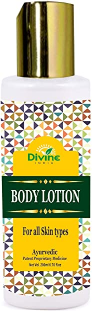 Divine India Body Lotion Enriched With Apricot and Almond Oil, 200ml
