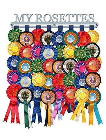 Rosace Cintre à écran My Rosaces 'en acier inoxydable brossé–Fabriquée en Grande-Bretagne