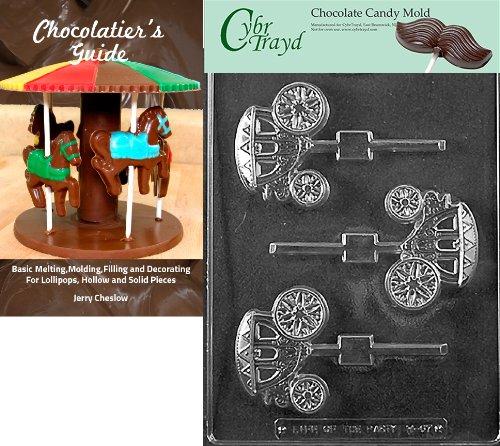Cybrtrayd W067 Schokoladenform für Hochzeitskutsche/Coach Lolly Schokolade Süßigkeitenform mit Cybrtrayd (englischsprachig) + Chocolatierbuch farblos