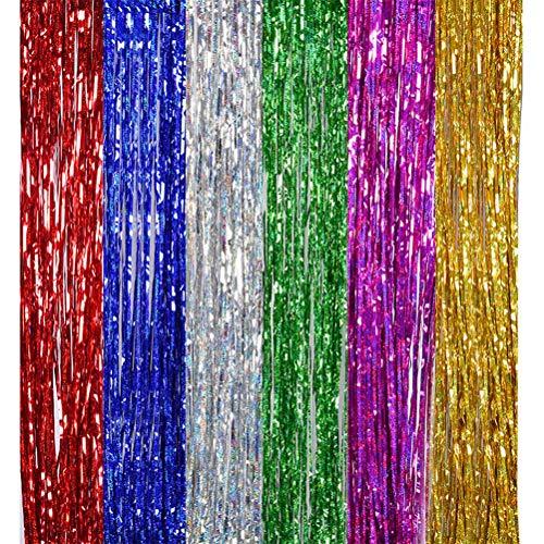 and Tisch Rock Tisch Tuch Tisch Rock Dekor Regen Vorhang Foto Requisiten für Hochzeit Geburtstag Party Dekor ()