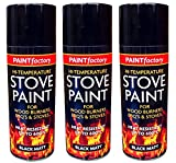 High Temperature Black Matt Stove Spray Paint Food Burners BBQ'S & Stoves 400ml