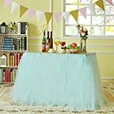 Marry Acting Improved Tutu Tulle Table Skirt Table Cover Cloth Skirting for Wedding