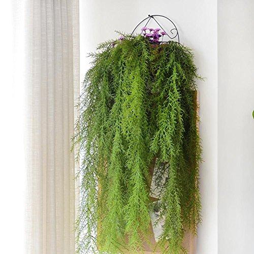 Prokth piante decorative artificiali piante finte da esterno 115 centimetri in plastica per la decorazione del giardino di casa