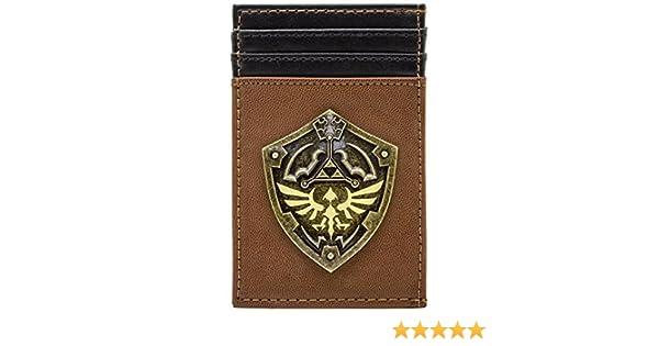 Legend of Zelda Or Triforce Bouclier Marron Portefeuille